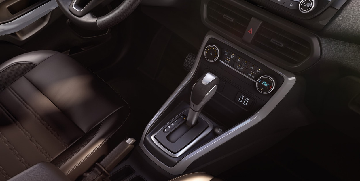 <strong>EcoSport's New 6-Speed Automatic Transmission</strong><br>Delivers better fuel economy, quieter operation, and less vibration.