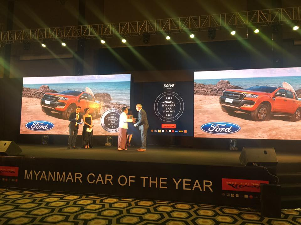 Ford Ranger and Ford Everest are the winners at this year's Myanmar Car of the Year Awards